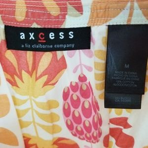 Axcess colorful blouse summer office